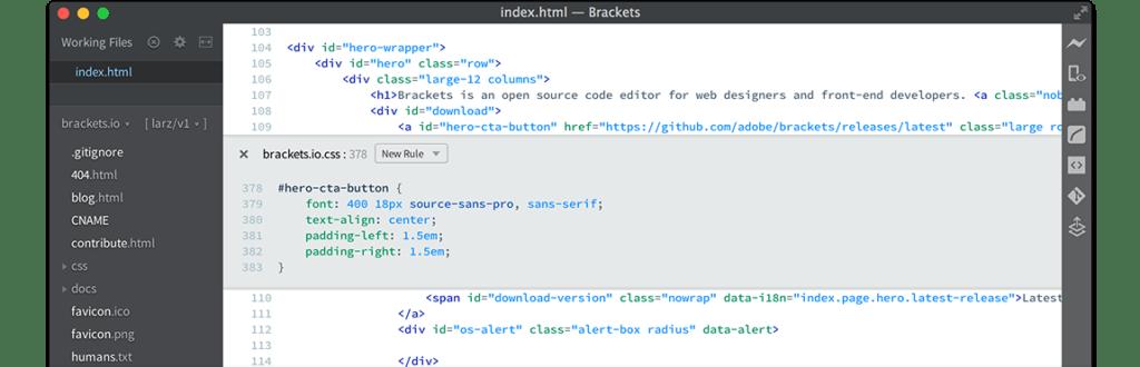 brackets-text-editor