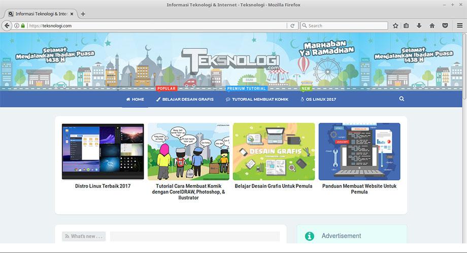 website-teksnologi-linux-mint