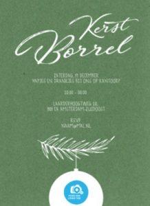 Kerst borrel kaart