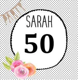 Verrassend Teksten Sarah! 50 jaar Sarah teksten, spreuken en kaartjes. RR-84