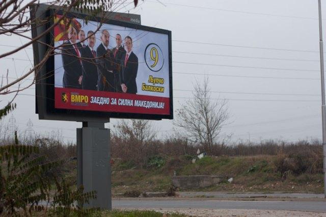 Valg i Republikken Makedonien og fede tider for outdoor reklamebranchen.