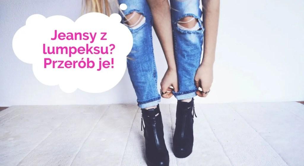 jeansy z lumpeksu