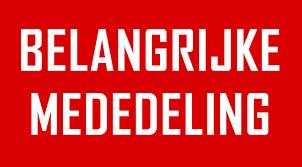 ZEER BELANGRIJK BERICHT