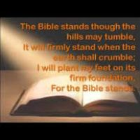 Music and lyrics to 'The Bible Stands'