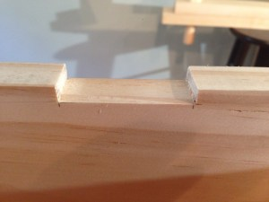 The bottom of the notch paired smooth with the chisel.