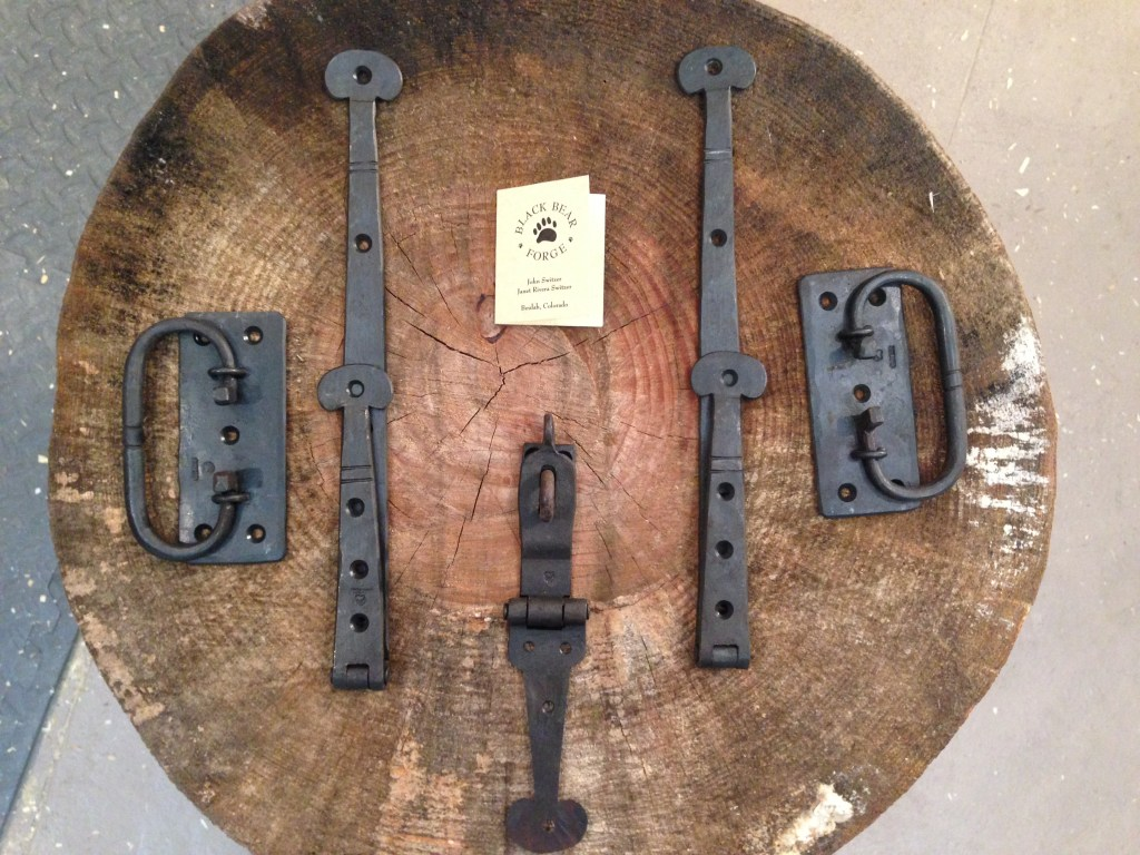 Dutch Tool Chest hardware hand forged by John Switzer.