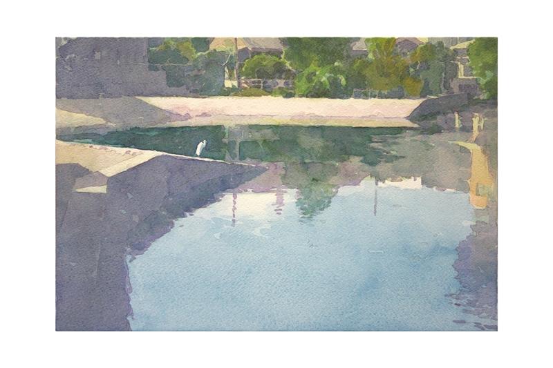 中西良 水彩画展 ギャラリーかわにし