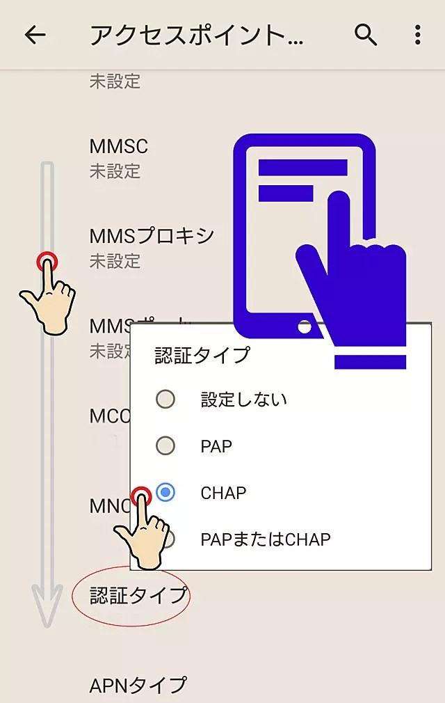 認証方式は「認証タイプ」で選択肢から選ぶ。