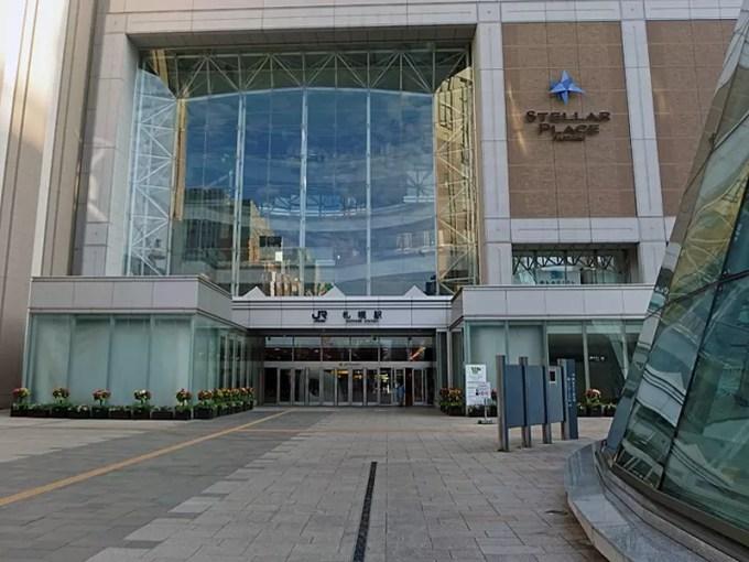 朝の札幌駅は、自宅からタクシーしかないかな!