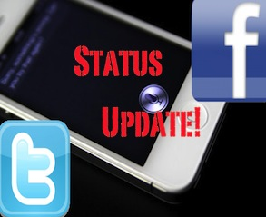How To: Update your Facebook/Twitter Status from Siri!!