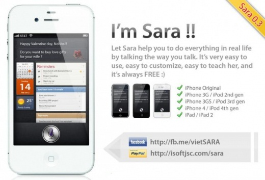 Sara: The Siri Clone for All Jailbroken Devices
