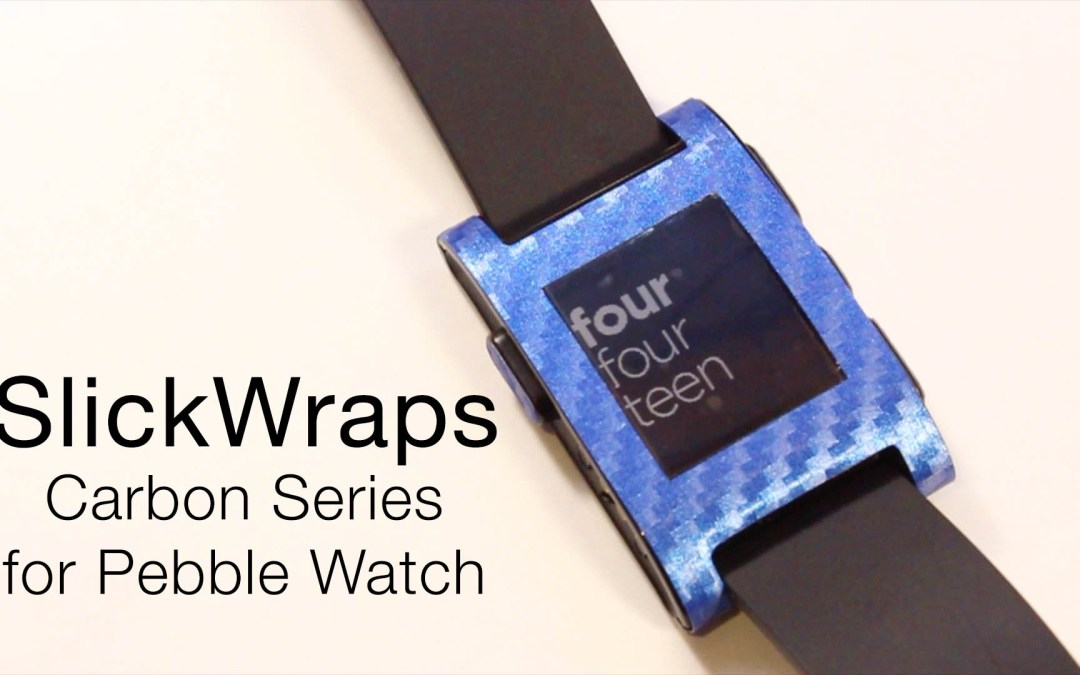 SlickWraps Carbon Series for Pebble Review