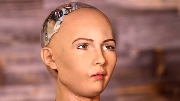 Rostro de un robot
