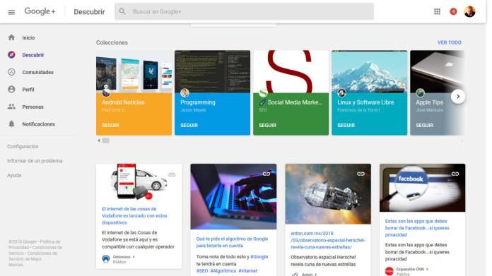 google+-colecciones