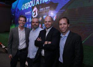 Gustavo Diament, Mauricio Portela, Leonardo Cesar e Edgar Diniz, da Turner