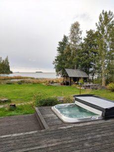 airbnb cabin villa in finland jacuzzi