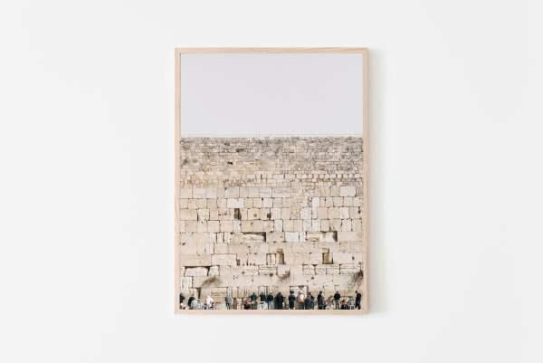 wailing wall Jerusalem wall print