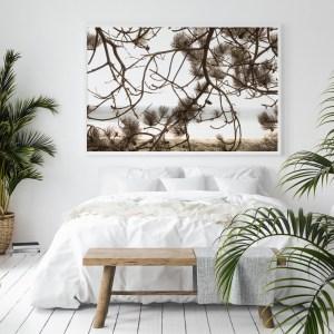 beach branches wall print