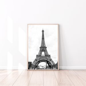 black and white Eiffel Tower wall prints