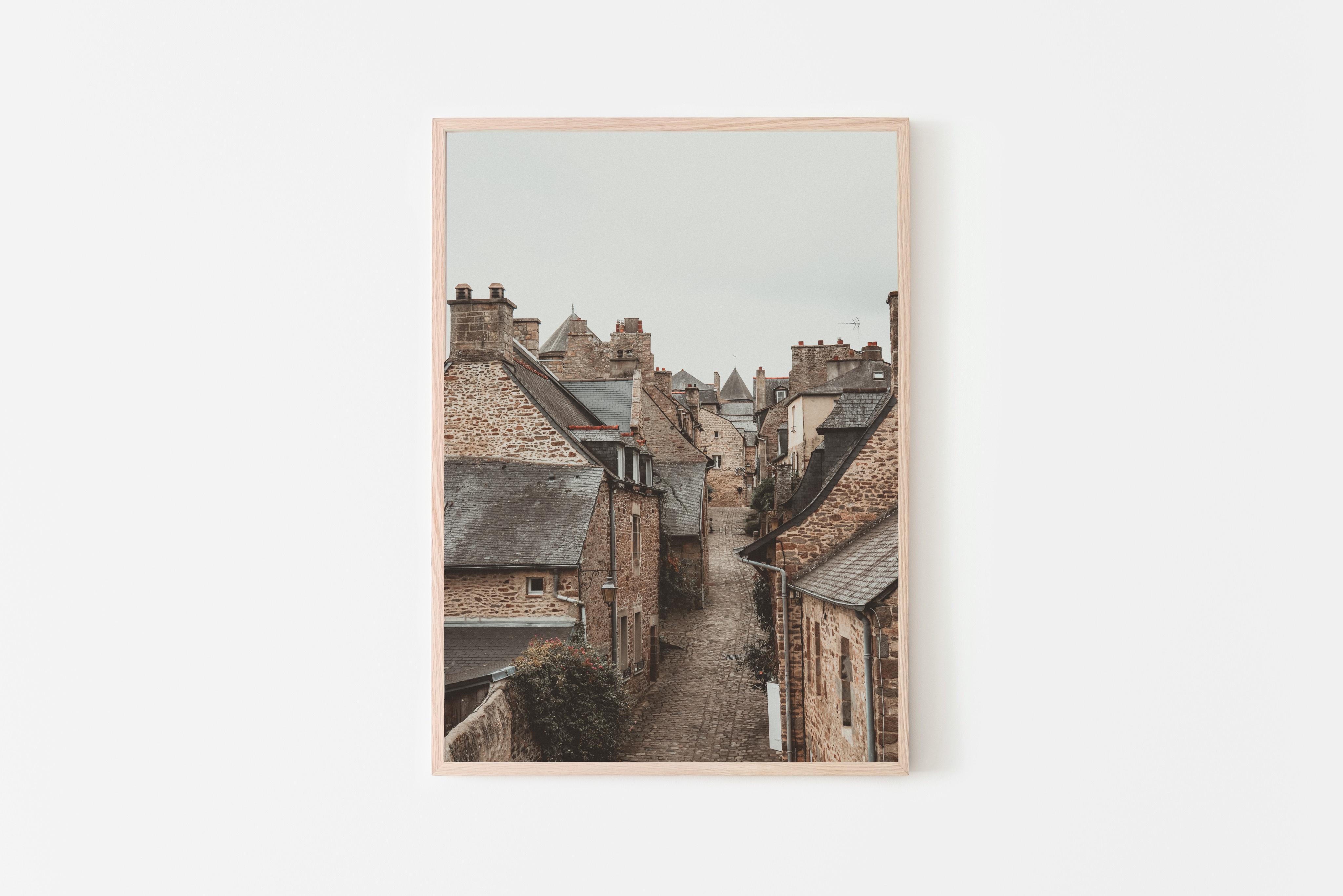 france small village wall print