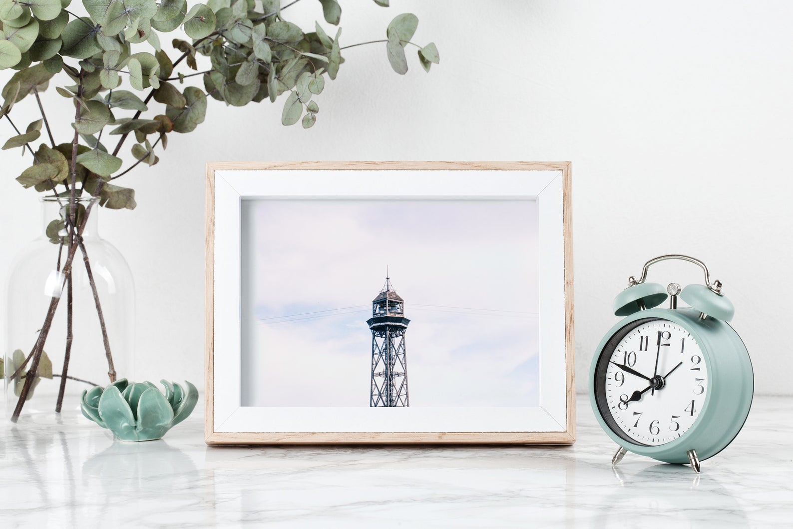 barcelona port wall print