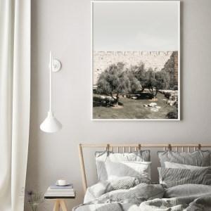 jerusalem wall olive trees print