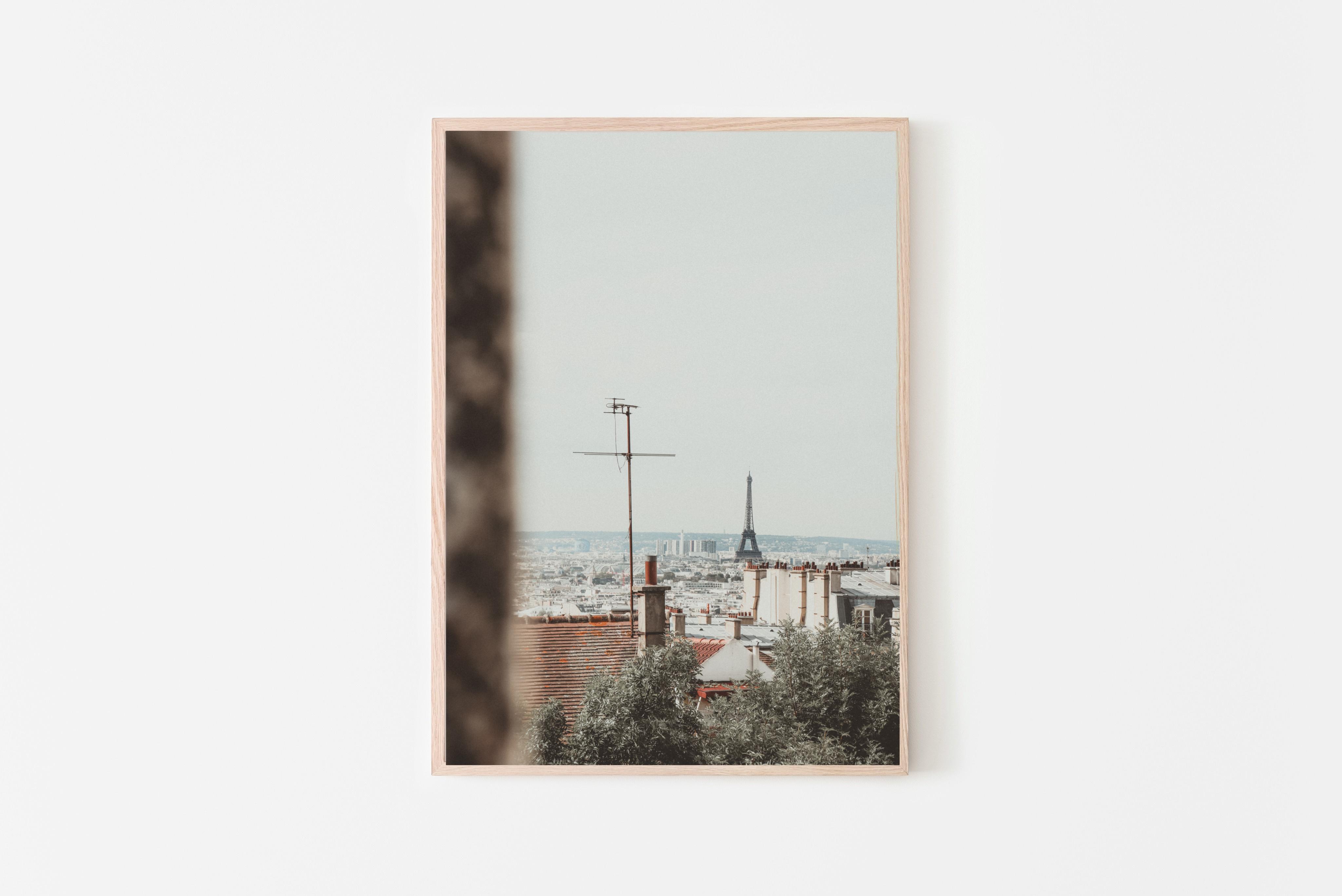 צילום של קו הרקיע של פריז תמונה לסלון