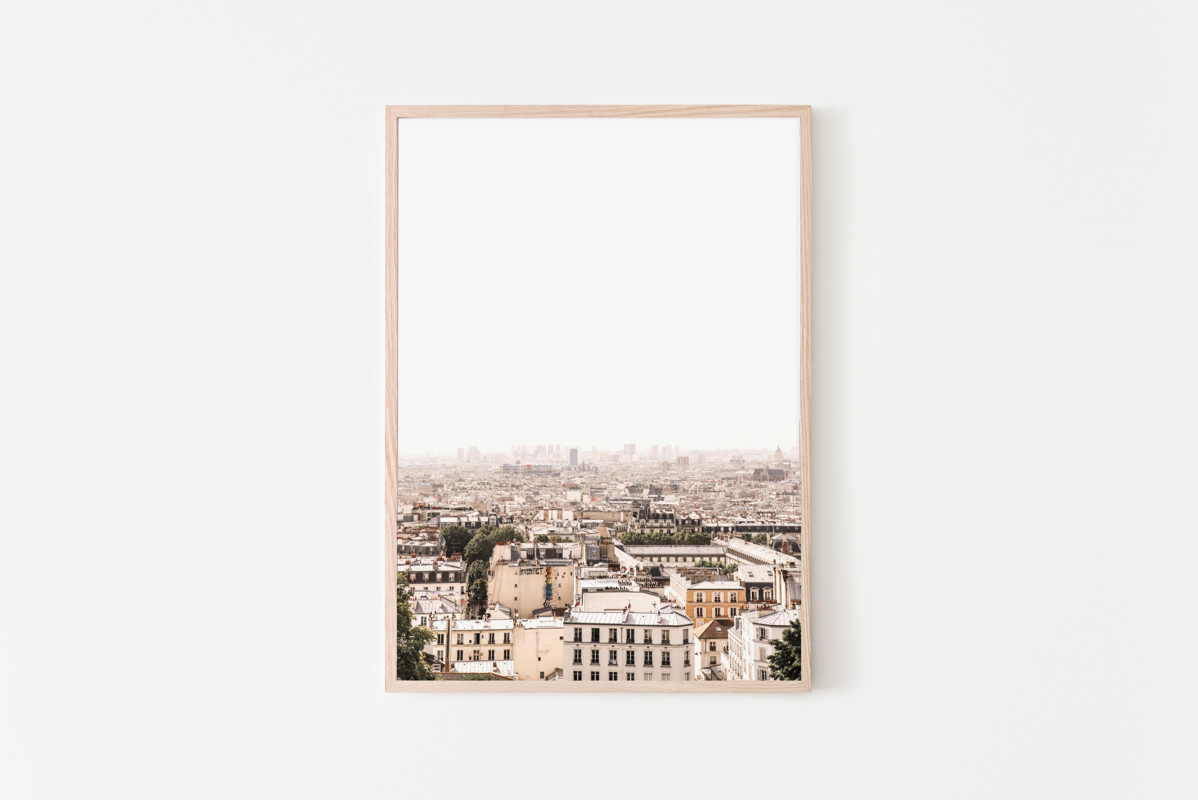 paris skyline wall print
