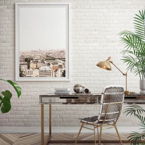 paris skyline wall print