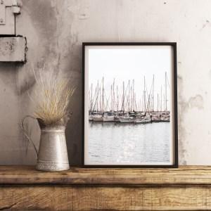 Sailboats print in Tel Aviv wall prints