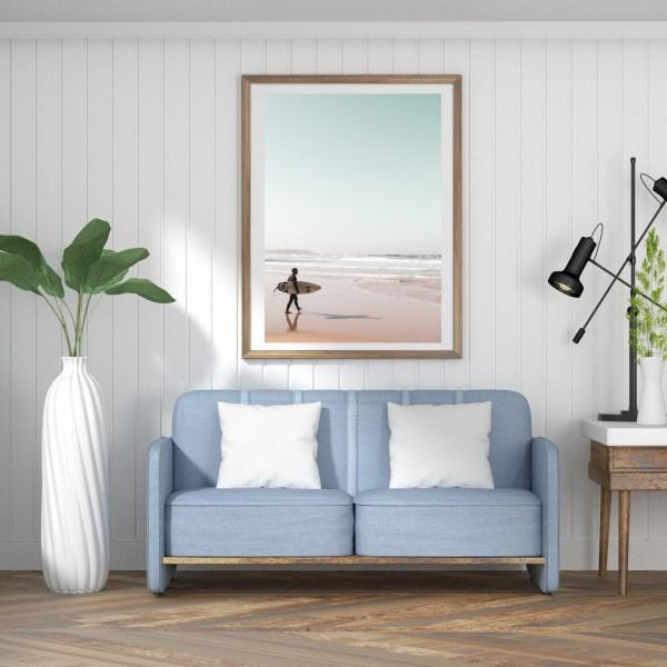 tel aviv beach surfer wall print