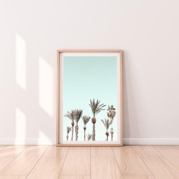tel aviv Palm trees wall print