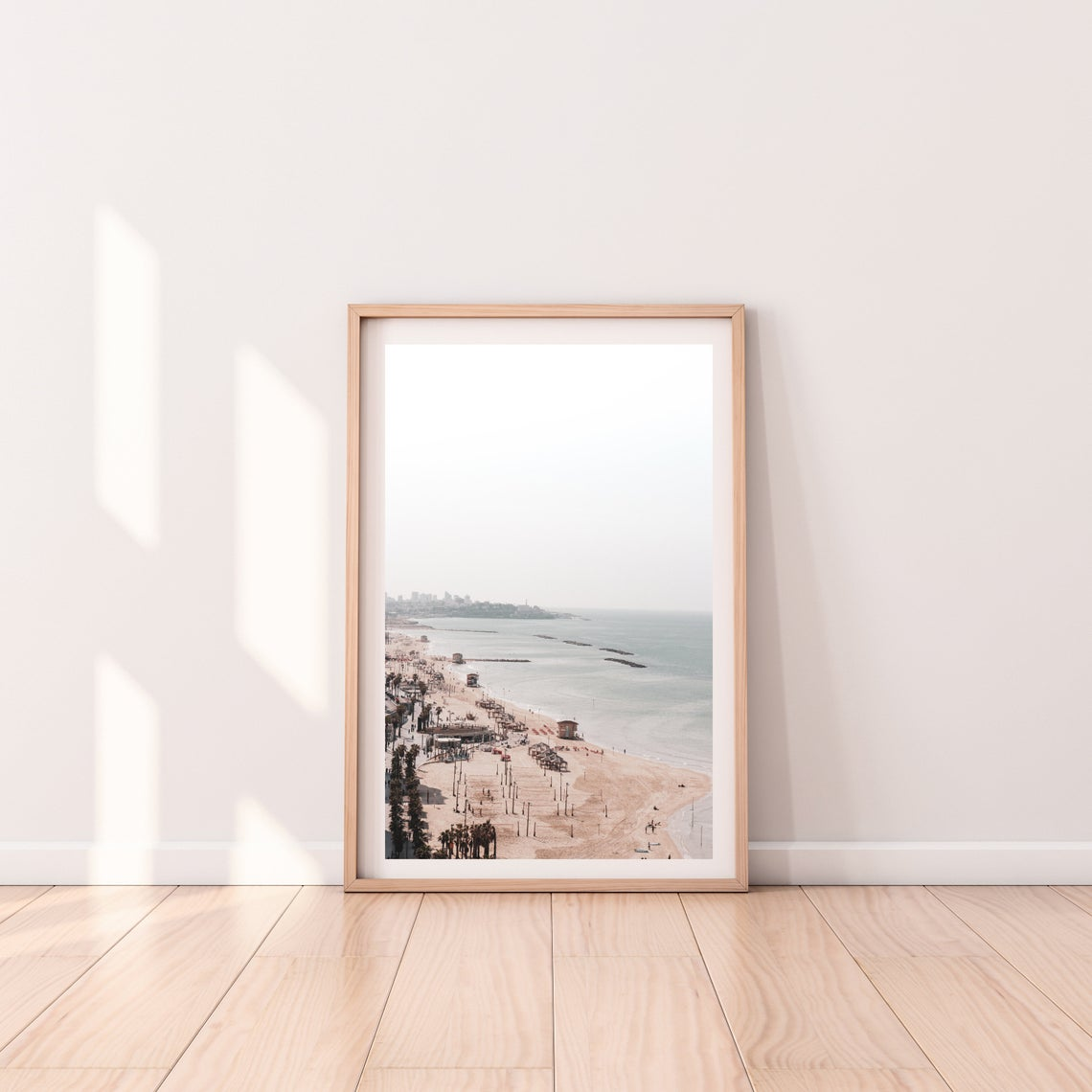 tel aviv beach waterfront wall print