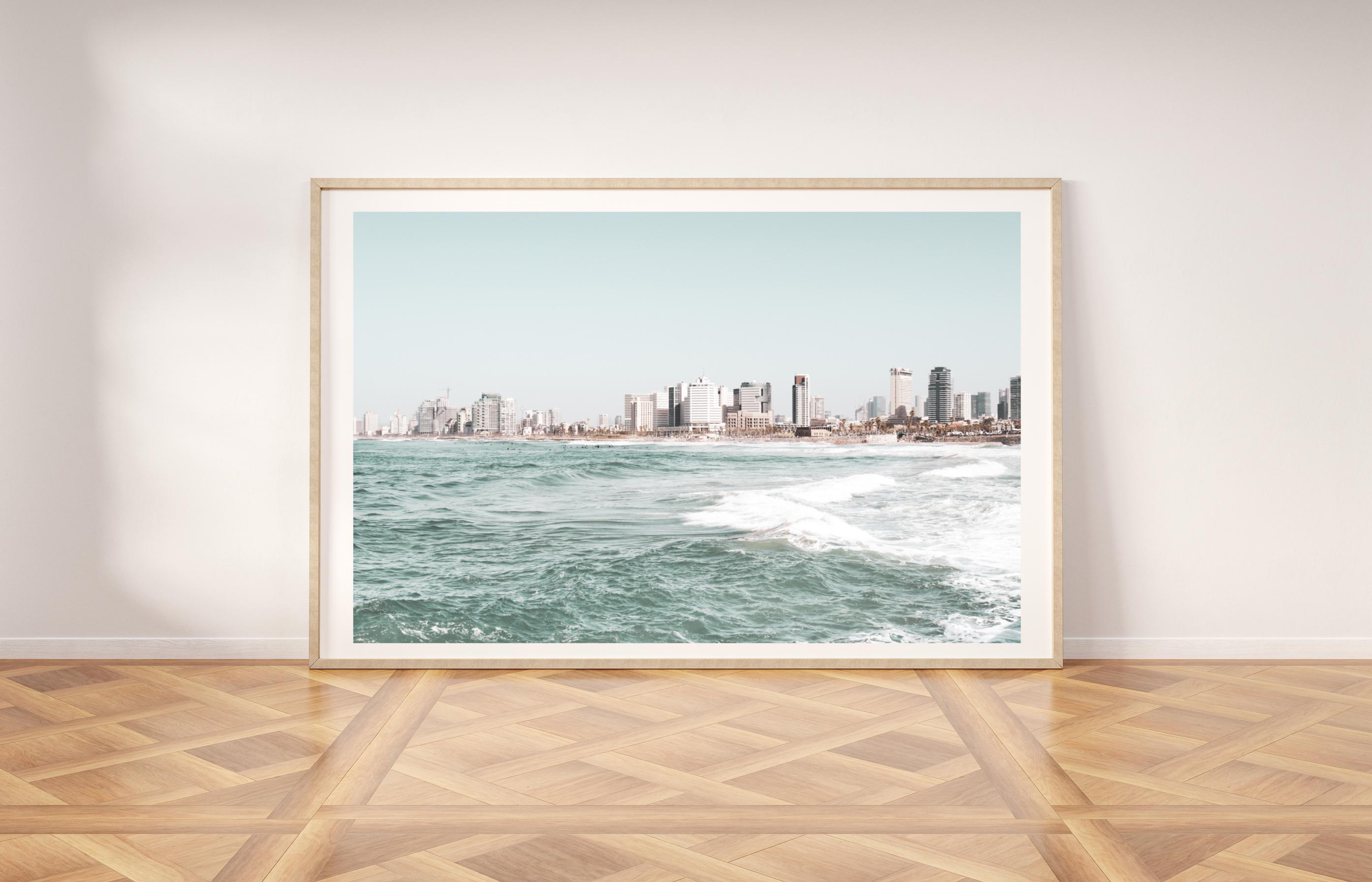 Tel Aviv skyline wall print
