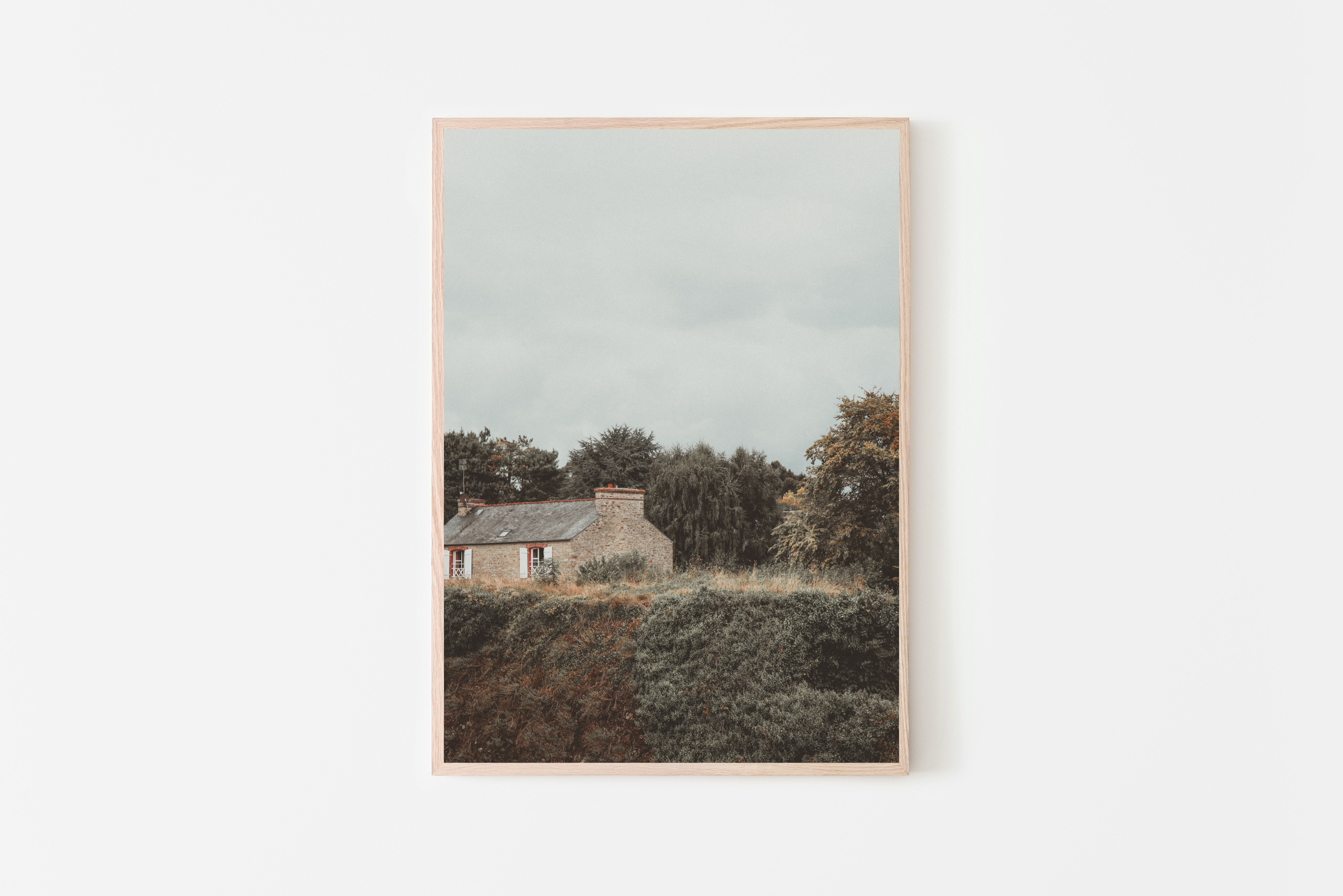 small village brittany france wall print