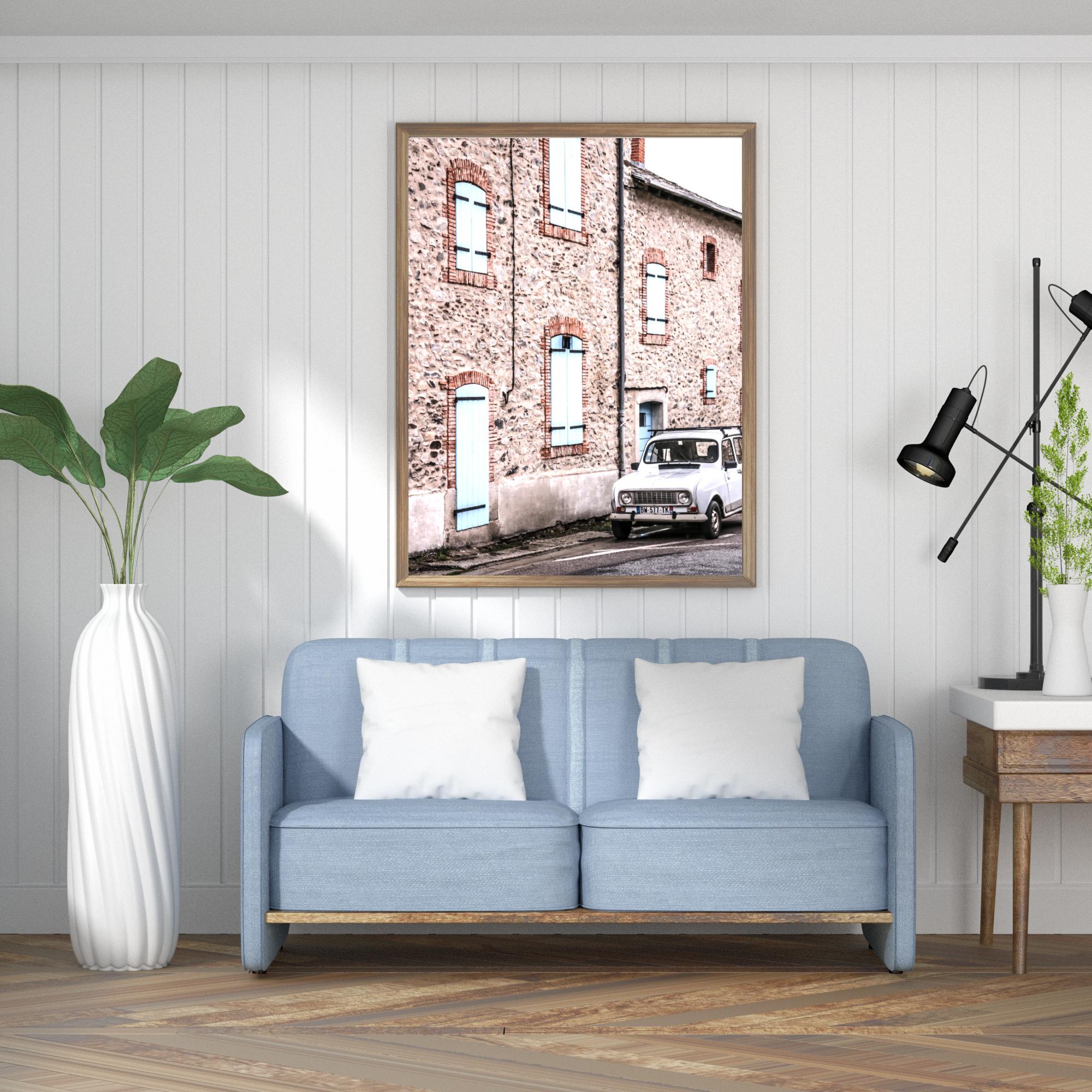 vintage car in Spain wall print