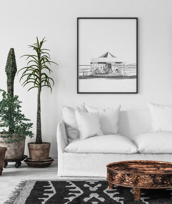 תמונת קיר קרסולה שחור לבן תל אביב