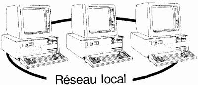 LAN local area network-reseau local
