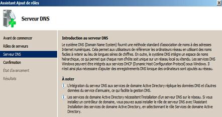 Installation du service DNS3