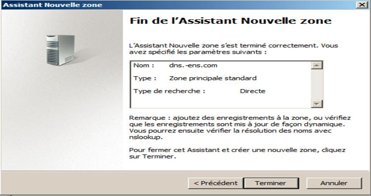 zone intégrée à Active Directory.