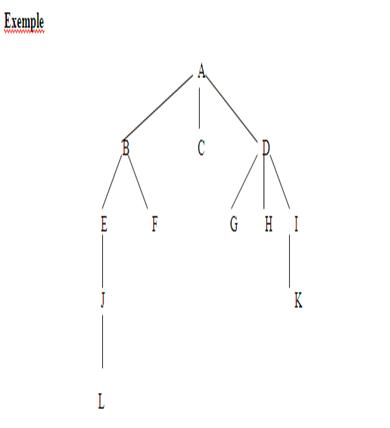 l'ordre de visite des nœuds pour le parcourt  infixe