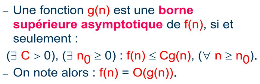 Notation grand O - Analyse de la complexité d'un algorithme