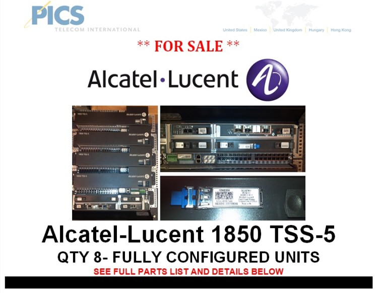 Alcatel-Lucent 1850 TSS-5 For Sale Top
