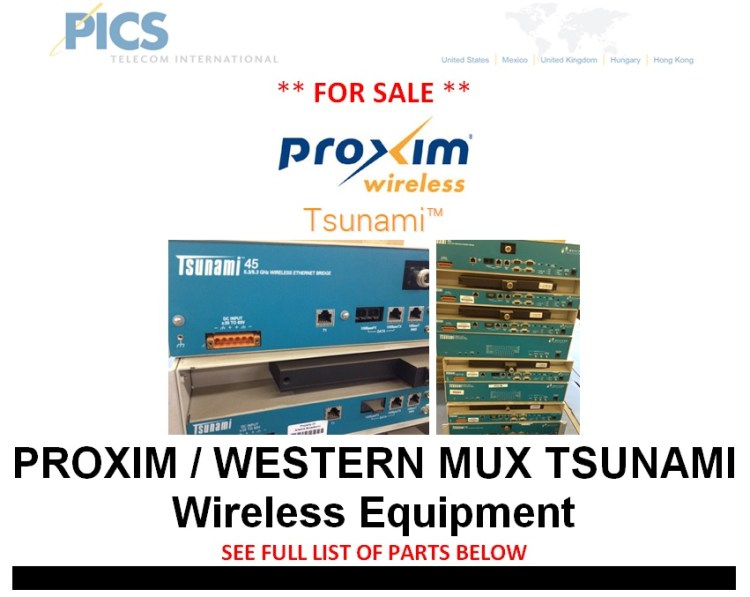 Proxim Tsunami Wireless Equipment For Sale Top
