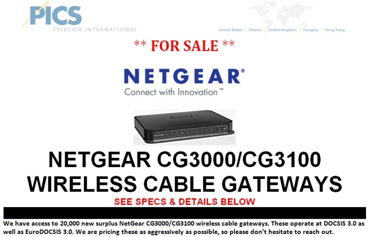 NetGear CG3000-CG3100 For Sale Top (7.22.13)