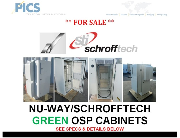 NuWay-Schrofftech Green OSP Cabinets For Sale Top (7.22.13)