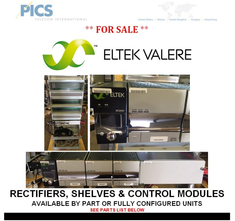 Eltek-Valere Rectifiers For Sale Top (10.28.13)