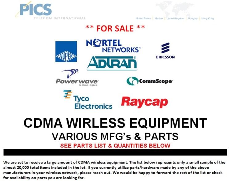 CDMA Wireless Equipment For Sale Top (1.8.14)