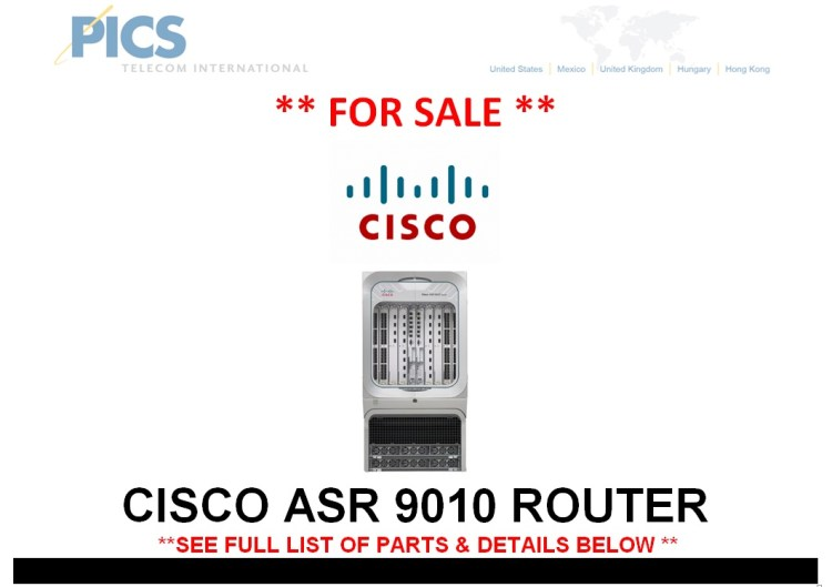 Cisco ASR 9010 Router For Sale Top (7.28.14)
