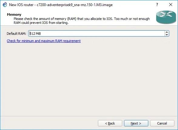 Configuración de la cantidad mínima de RAM
